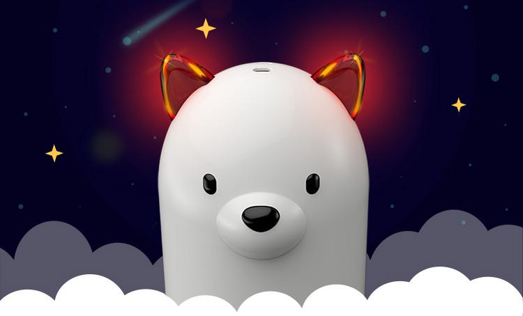 emie亿觅萨摩充电宝创意可爱便携移动电源(底座版) 白色