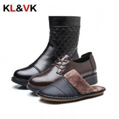 KL&VK头层牛皮羊毛皮靴套组