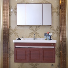 生活艺术家*巴洛克不锈钢浴室柜大套组