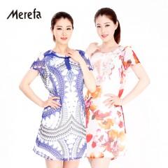 Merefa真丝雪纺连衣裙《花之克里特》2件套组
