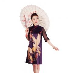法国恺瑞真丝高定旗袍