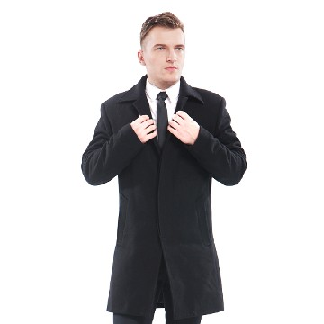 今昇男士商务中长款羊毛大衣