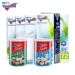 新西兰原装进口Theland纽仕兰高钙全脂牛奶特别加赠组 250ml*72盒