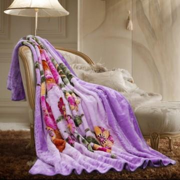 梦洁家纺维多利亚花园拉舍尔加厚毛毯
