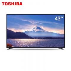东芝43英寸4K超薄护眼平面AI语音智能电视