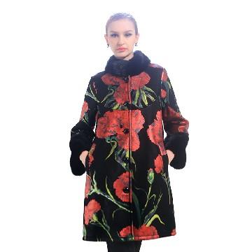 今昇 西西里玫瑰绵羊皮大衣