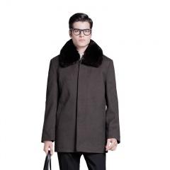 太子龙男士中长款毛呢大衣(SD)(1020快抢价)