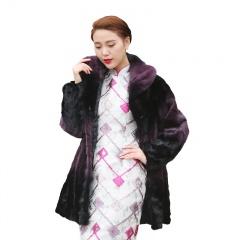 拉贝丽整貂领紫气东来水貂大衣(双11疯狂价)