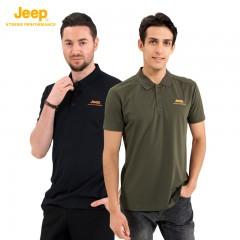 Jeep 休闲速干Polo衫1+1正品组 男T恤 男装 短袖