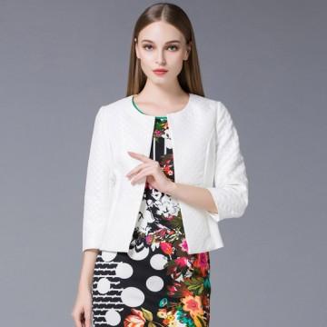 欧力丝菱形花纹外套