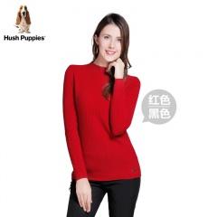 美国HushPuppies女士经典百搭羊绒衫