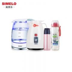 德国施美乐SIMELO玻璃电热水壶1.8L+保温壶1.5L+小鸟保温杯+便携拇指杯)