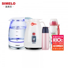 德国施美乐SIMELO玻璃电热水壶1.8L+保温壶1.5L+小鸟保温杯+便携拇指杯