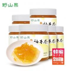 野山熊蜂蜜柚子茶500g/罐*12
