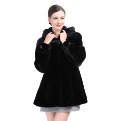 今昇 尊贵进口女士黑貂大衣