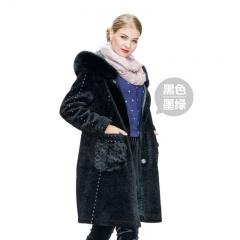 今昇摩登时尚狐狸毛双面羊毛大衣
