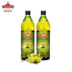 西班牙TRAMIER特迷尔特级初榨橄榄油1000ml*2健康组