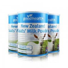 新西兰原装进口good health好健康山羊全脂奶粉3罐