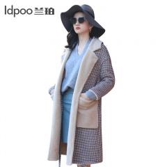 兰珀 巴黎高定设计师款双面穿羊羔毛皮草大衣