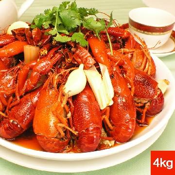 洪湖秘制即食十三香小龙虾1000G*4盒+生鲜虾球100G*5包