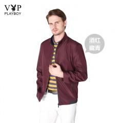 花花公子VIP型男立领夹克加赠组