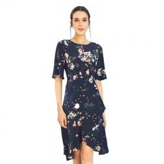 尚街花漾水袖设计师款真丝连衣裙