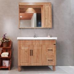 木韵风情*巴洛克不锈钢落地式浴室柜