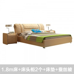 瑞欧蝴蝶飞家具卧房组  赠:床头柜*2,床垫+蚕丝被