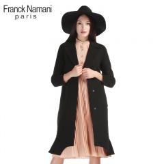 FranckNamani芙蘭克·尼定制款魚尾裙擺雙面羊毛大衣