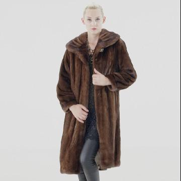 金尚伊 龙凤之姿芬兰进口整貂超长裘皮大衣