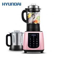 韩国现代新一代智能养生加热破壁料理机破壁机QC-LL2463(一机双杯)