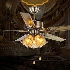 皇家复古琉璃遥控LED风扇灯