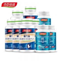 健力多氨糖软骨素钙片 40.8g*6瓶 赠钙维生素D维生素K软胶囊30粒*3瓶
