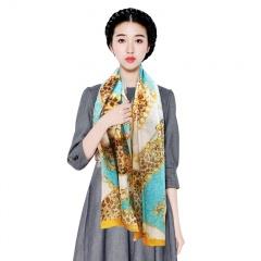Soho Royal大牌花纹长丝巾