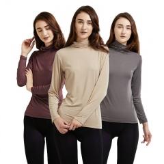 欧菲女士自由领发热打底衫3件