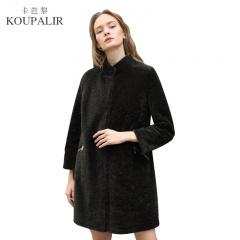 卡芭黎大牌立领双面穿印花羊剪绒大衣