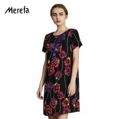 Merefa伊洛传芳真丝双绉连衣裙