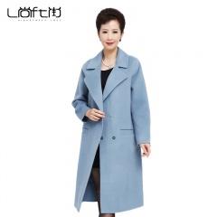 尚街新时尚设计师款羊毛双面尼大衣