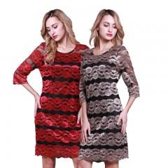 茗采丽人法式优雅镂空蕾丝裙组连衣裙裙子