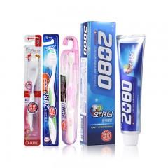 2080牙膏120g*2支+2080牙刷3支