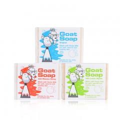 Goat soap 羊奶皂3块组合(原味、蜂蜜味、柠檬香味)100g*3