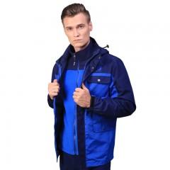 凯瑞摩男士长款智能感温三防冲锋衣