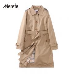Merefa 致敬经典-英伦格纹真丝胆三防风衣