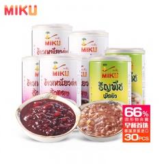 泰国原装进口MIKU谷物放心营养粥健康组(紫米红豆粥330ml*24罐+莲子粥330ml*6罐)