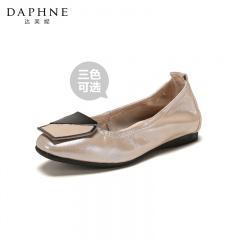 Daphne达芙妮 简约方扣平底鞋单鞋鞋子女鞋