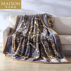 梦洁美颂 暖绒色织加厚拉舍尔云毯
