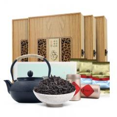 君宜武夷山特级肉桂茶叶 180g*4盒 赠大师打造铁壶