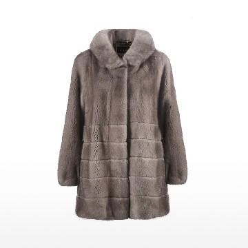 索娜斯 绝色玉琢韩版一领三用银蓝整貂大衣