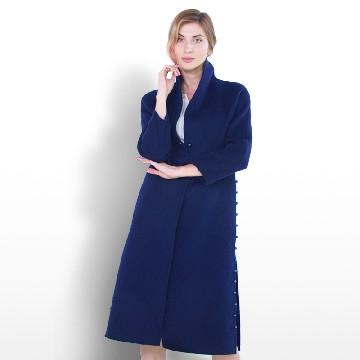 蝴蝶仕佳 钉珠款双面羊毛大衣
