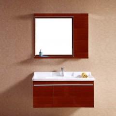 巴洛克 不锈钢木纹浴室柜超值尊享组(100cm)